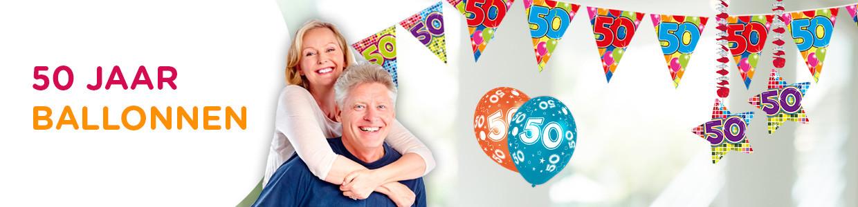Top 50 jaar ballonnen! In alle soorten en maten bij | Feestwinkel.nl KN96