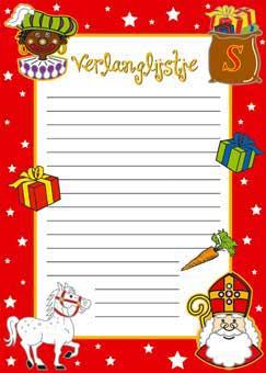 Sinterklaas Verlanglijstje - 6 stuks thumbnail