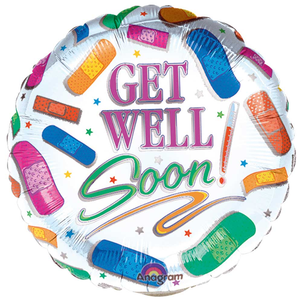 Beterschap ballon - get well soon