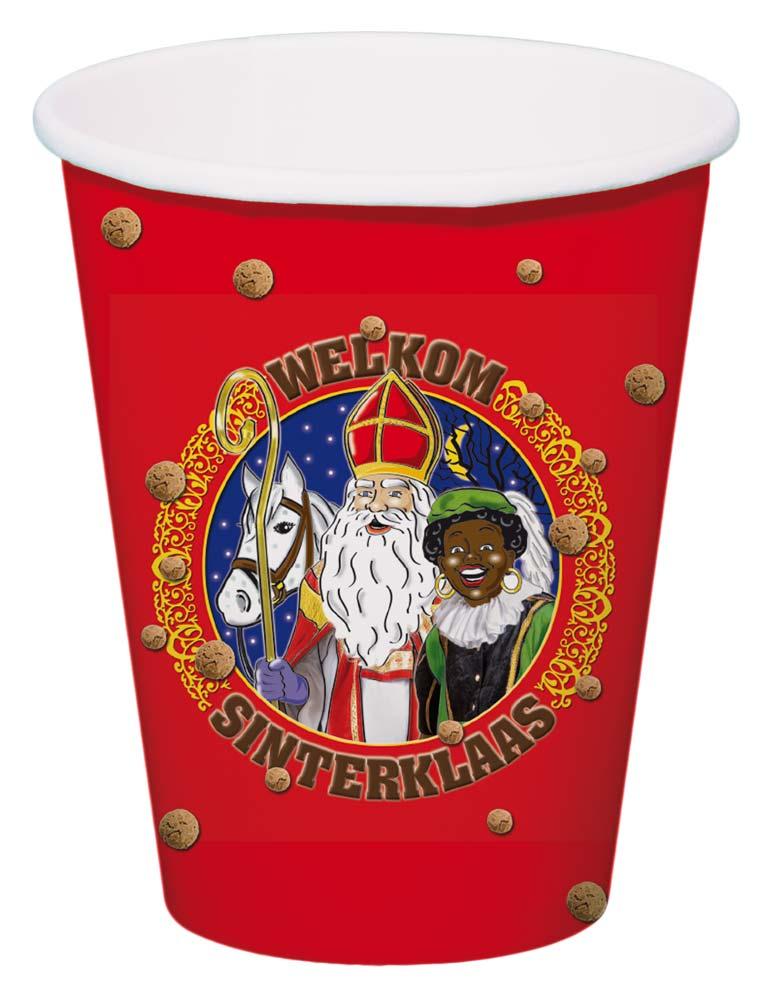 Sinterklaas bekers - 8 stuks thumbnail