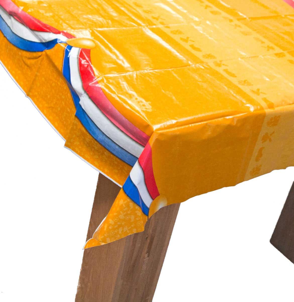 Oranje Tafelkleed met Nederlanse Vlag 180x130cm