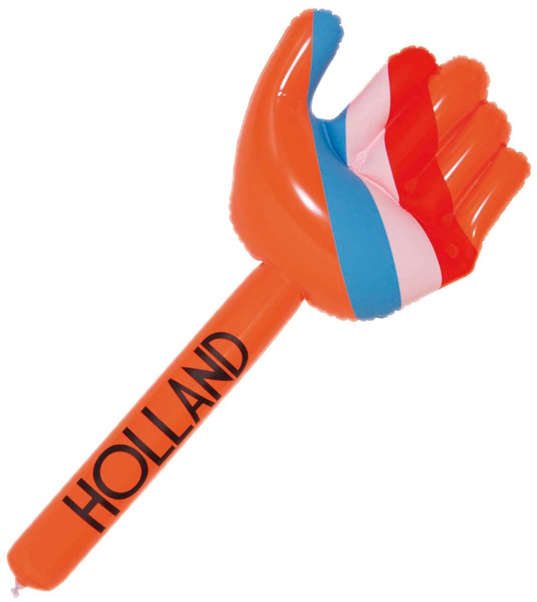 Opblaas hand Oranje-Rood-Wit-Blauw