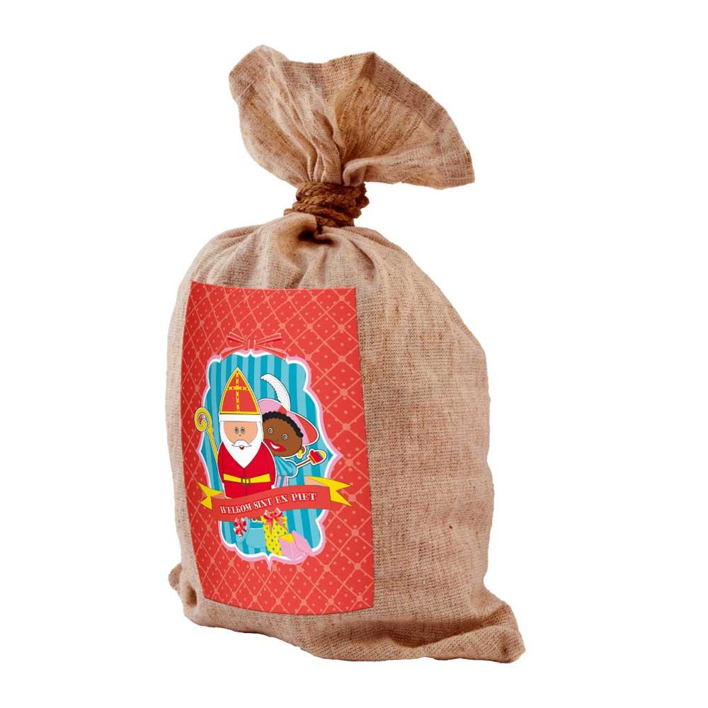 Sinterklaas Zak Jute-Look Medium - 50x80 cm thumbnail