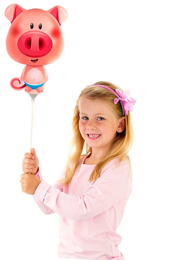 Mini figuurballon Varken