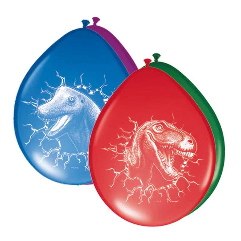 Toffe versiering voor een dinosaurus party. in de verpakking zitten verschillende kleuren ballonnen met ...