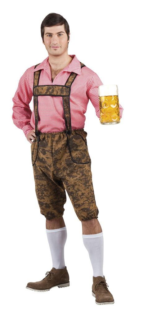 Bruine Lederhosen en Shirt Werner Oktoberfest Heren