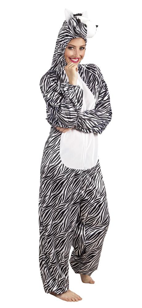 Zebra Onesie Pluche Volwassenen