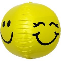 Smiley Face Folieballon 43cm