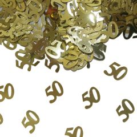 50 Jaar Gouden Tafeldecoratie / Sierconfetti