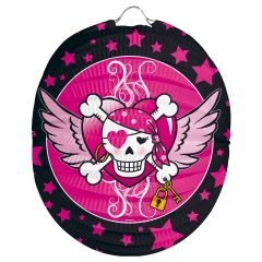 Lampion Pink Pirate Girl - Bolvorm 22cm