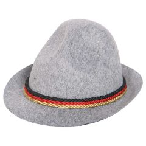 Tiroler hoed met Zwart-Rood-Geel koord