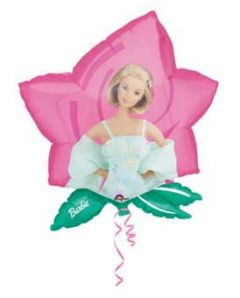 Barbie Flower Helium Ballon