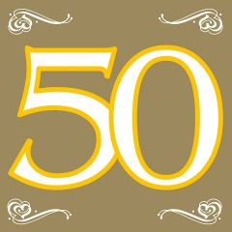 50 Jaar Gouden Servetten - 20 stuks