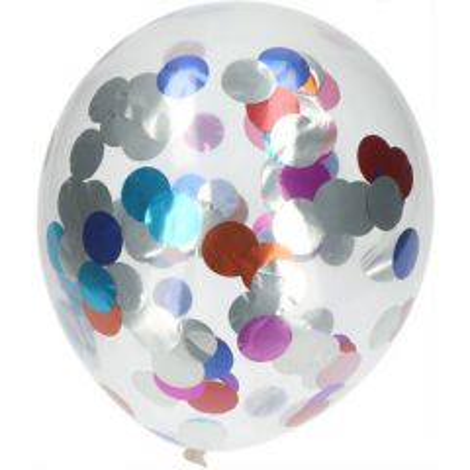 Ballonnen Meerkleurige Folie Confettie - 4stk