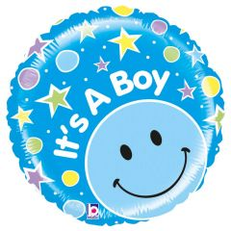 It's A Boy Emoticon geboorteballon - 53cm