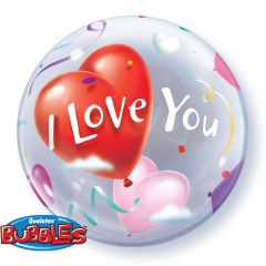 I Love You Bubbles Ballon 56cm