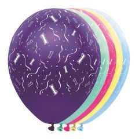 1 Jaar Feestballonnen - 5 stuks