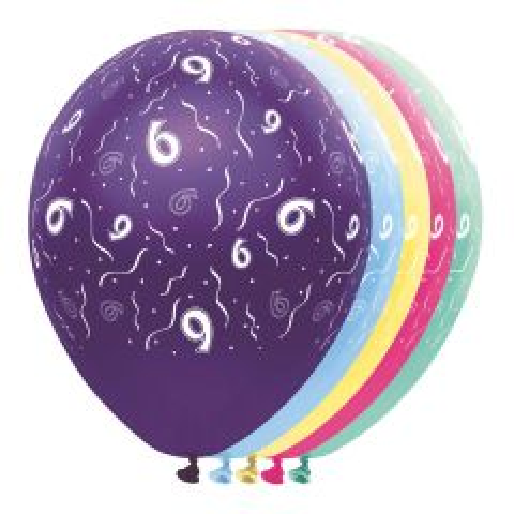 6 Jaar Feestballonnen - 5 stuks