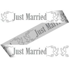 Afzetlint Just Married - 15 meter