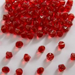 Tafeldecoratie diamanten rood 9mm