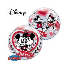 Minnie en Mickey Mouse Liefde Bubbles Ballon - 56cm