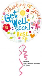 Beterschap Ballon 46cm - Get Well Soon