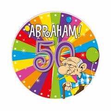 50 Jaar Abraham Knalfeest LED Party Button
