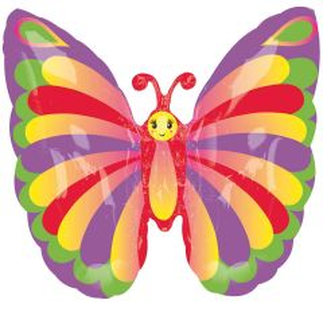 Kleurige Vlinder Folieballon