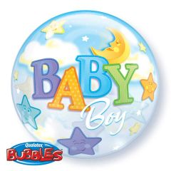 Baby Boy Moon Bubbles Ballon 56cm