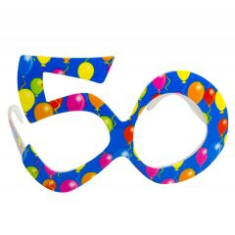 Blauwe Bril 50 Jaar Ballonnen