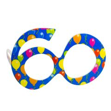 Blauwe Bril 60 Jaar Ballonnen