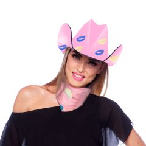 Roze Cowboy Hoed Lippen