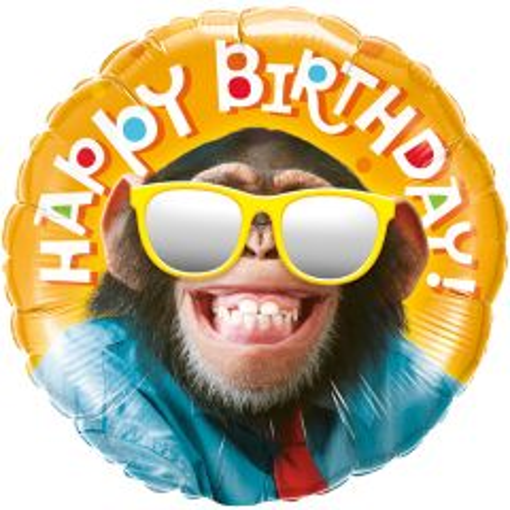 Happy Birthday Chimp Folieballon 46cm