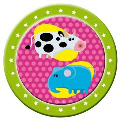 Animal Party Dieren Borden 23cm - 8 stuks