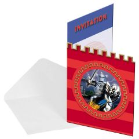 Silver knight uitnodigingen - 8 stuks