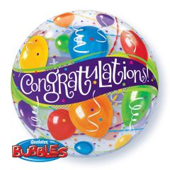 Congratulations Bubbles Ballon 56cm