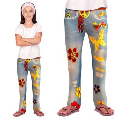 Hippie Flower Power Legging Meisjes