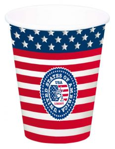 USA Party Bekers 700ml - 8 stuks