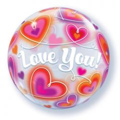 Love You Bubbles Ballon - 56cm