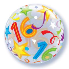 16 Jaar Bubbles Ballon Celebration 56cm