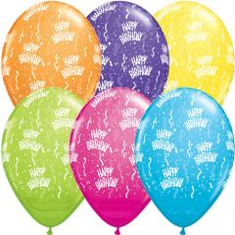 Meerkleurige Happy Birthday Ballonnen 28cm - 25 stuks