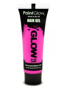 Roze Glow in the Dark Haargel - 10ml