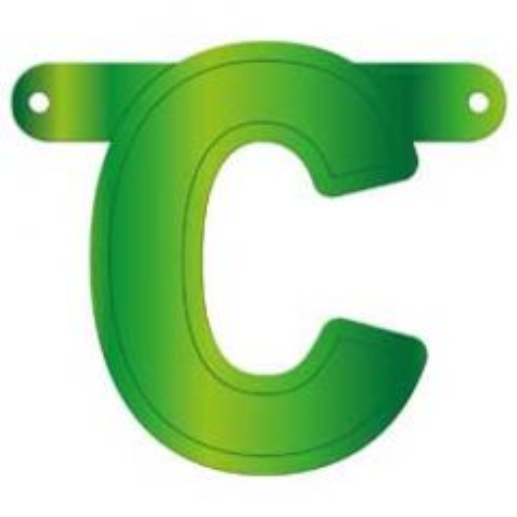 Lime Groene Banner Letter C