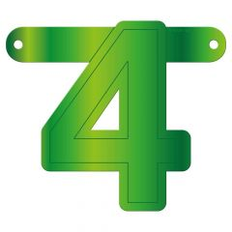 Banner letter 4 lime groen