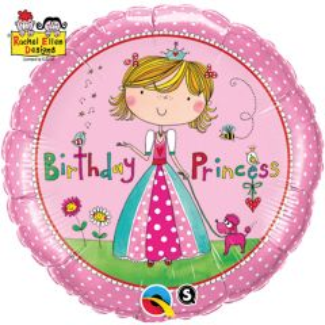 Birthday Girl Prinses Folieballon 46cm