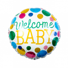 Welcome Baby Gestipte Folieballon - 45cm