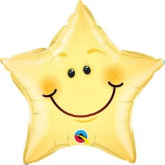 Smiley Ster Folieballon - 51cm