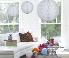 Witte honeycomb groot rond - 50 cm