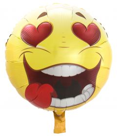 Verliefde Emoticon Folieballon - 43cm