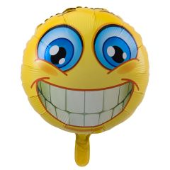 Lachende Emoticon Folieballon - 43cm
